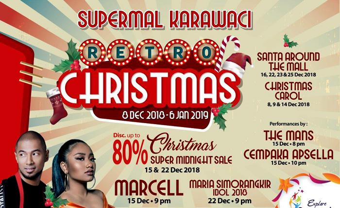 Keceriaan Natal di 'Retro Christmas' Supermal Karawaci