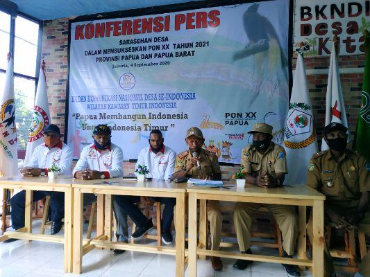 BKNDI Gelar Sarasehan Desa Dalam Rangka Sukseskan PON XX Tahun 2021 di Papua dan Papua Barat