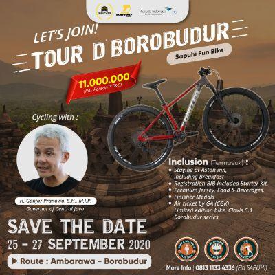 Bekerjasama dengan Garuda Indonesia dan United Bike, SAPUHI Selenggarakan Tour D'Borobudur