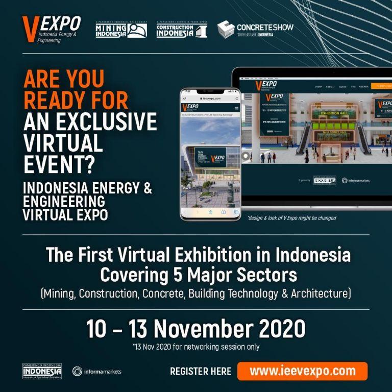 IEE V-EXPO 2020, Pameran Virtual Pertama yang Mencakup 5 Sektor Sekaligus!
