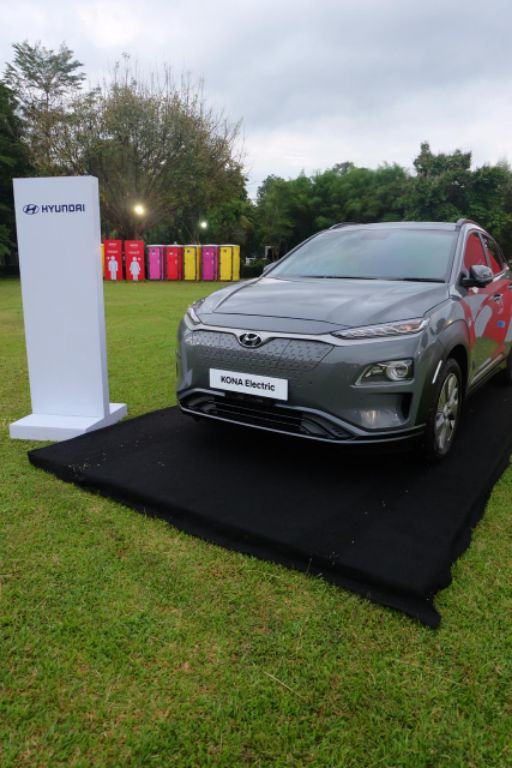 Hyundai KONA Electric, Mobil Resmi Borobudur Marathon 2020