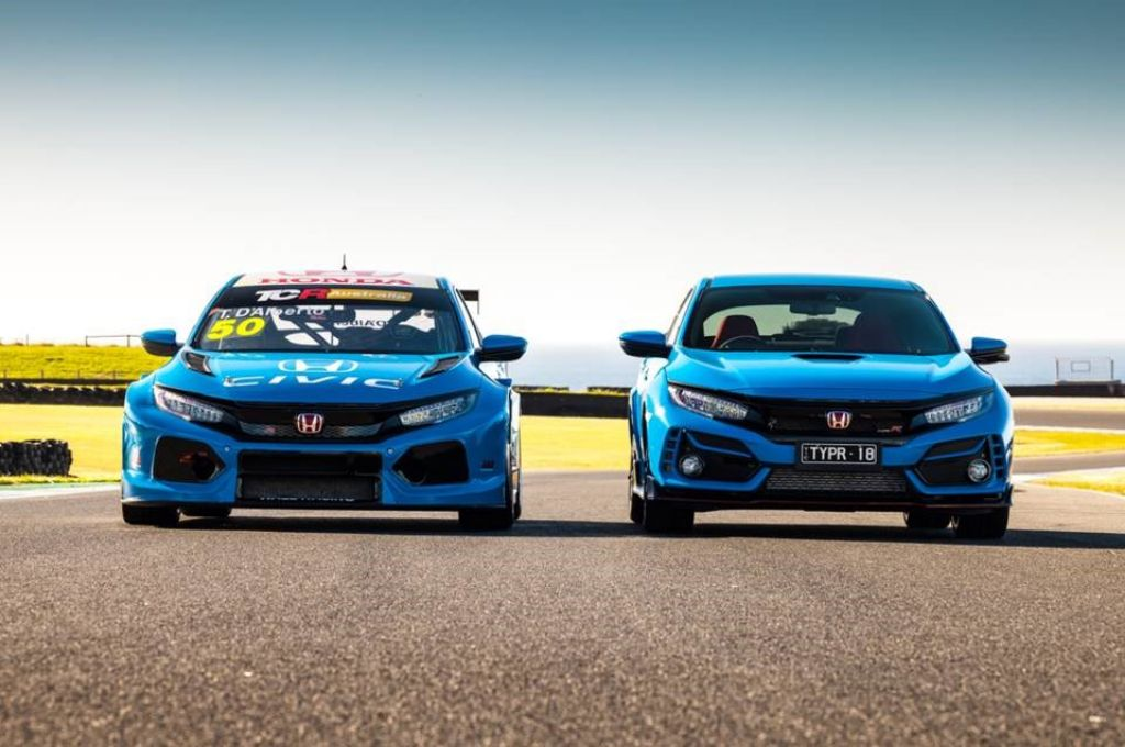 Honda Civic Type R TCR Tampil Dengan Warna Dominan 'Racing Blue' di Australia
