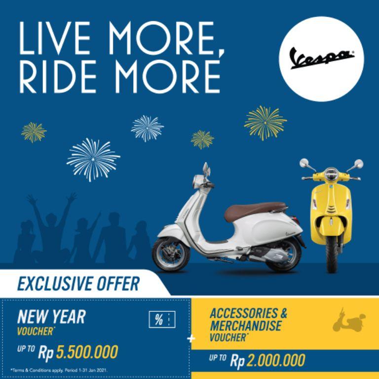 Program Seru Piaggio dan Vespa 'Live More, Ride More' Berikan Penawaran Menarik di Tahun 2021