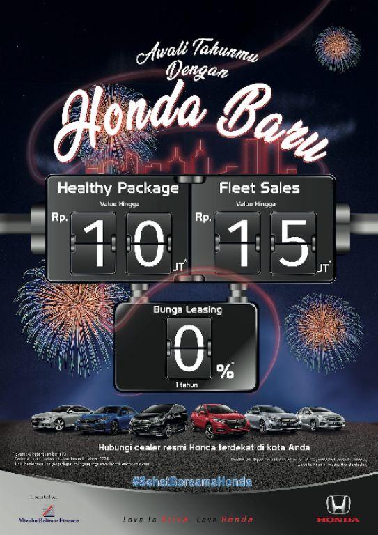 Honda Awali Tahun 2021 Lewat Promo Lanjutan 'Sehat Bersama Honda'