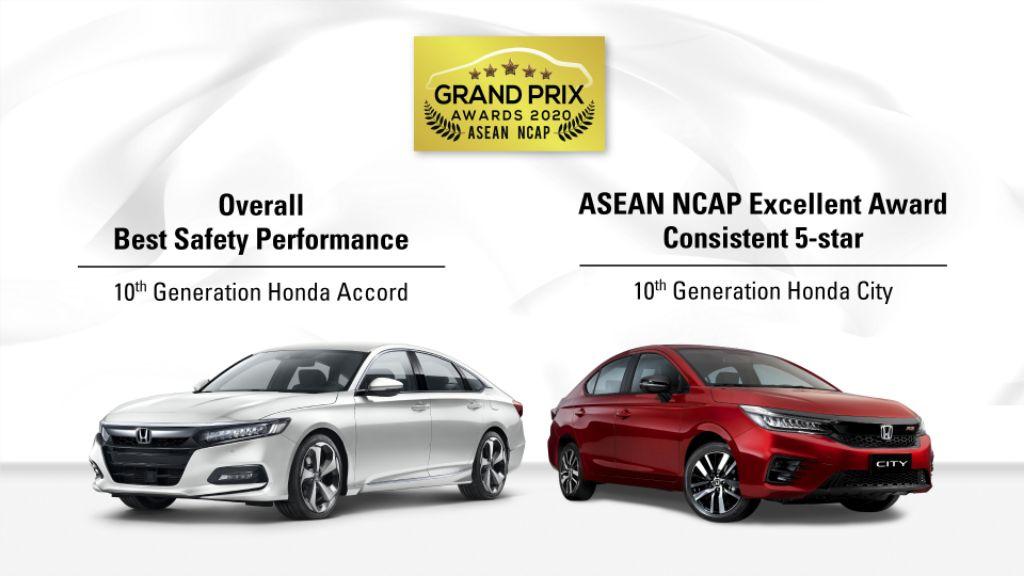 HONDA ACCORD dan CITY Raih Empat Penghargaan Besar di ASEAN NCAP Grand Prix Awards 2020