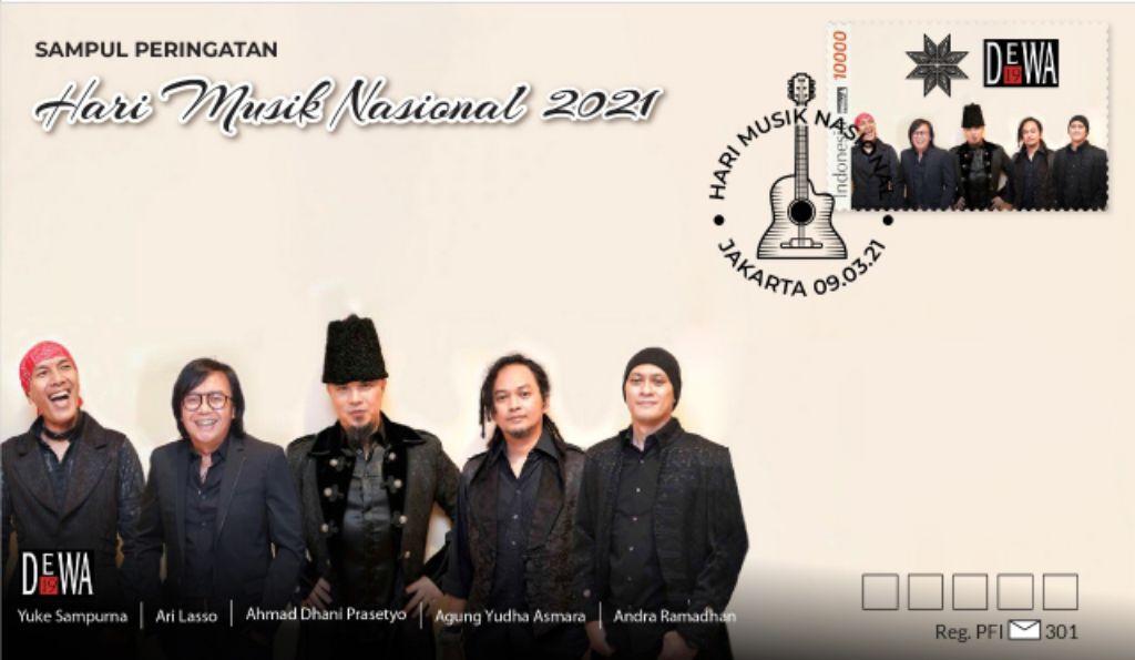 PFI Luncurkan Sampul Berprangko DEWA 19 Sambut Hari Musik Nasional
