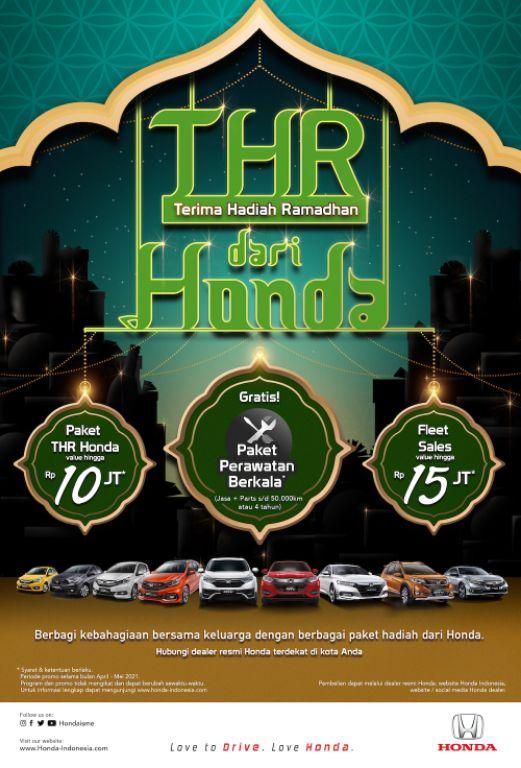Honda Tawarkan Program Penjualan Bertajuk 'Terima Hadiah Ramadhan' Jelang Lebaran 2021