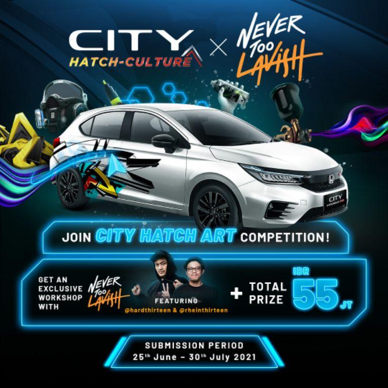 Honda Bersama Nevertoolavish Gelar Kompetisi Desain Virtual 'City Hatch Art'