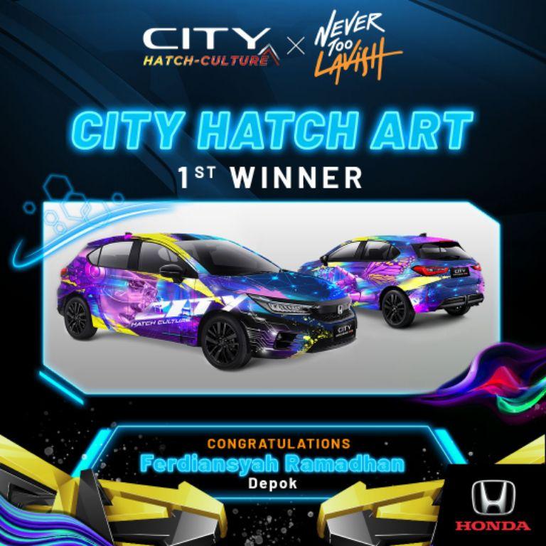 Ferdiansyah Ramadhan Juarai Kompetisi Desain Vitual 'City Hatch Art'