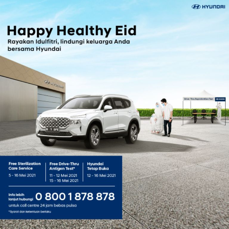 Optimalkan Momen Lebaran, Hyundai Motors IndonesiaAdakan Program Layanan'Hyundai Happy Healthy Eid'