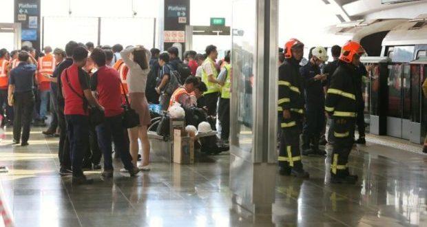 MRT Singapura Tabrakan, 25 Orang Terluka