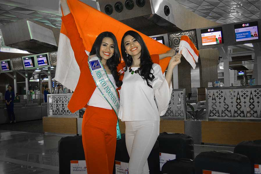 Miss Eco Indonesia 2018,  Astira Intan Vernadeina Bertolak ke Mesir