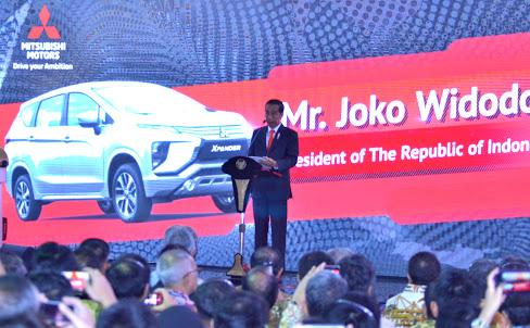 Presiden Jokowi Apresiasi Ekspor Mitsubishi Xpander