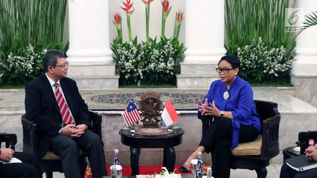 Menlu RI: Indonesia-Malaysia Bahas Penyelesaian Masalah Perbatasan
