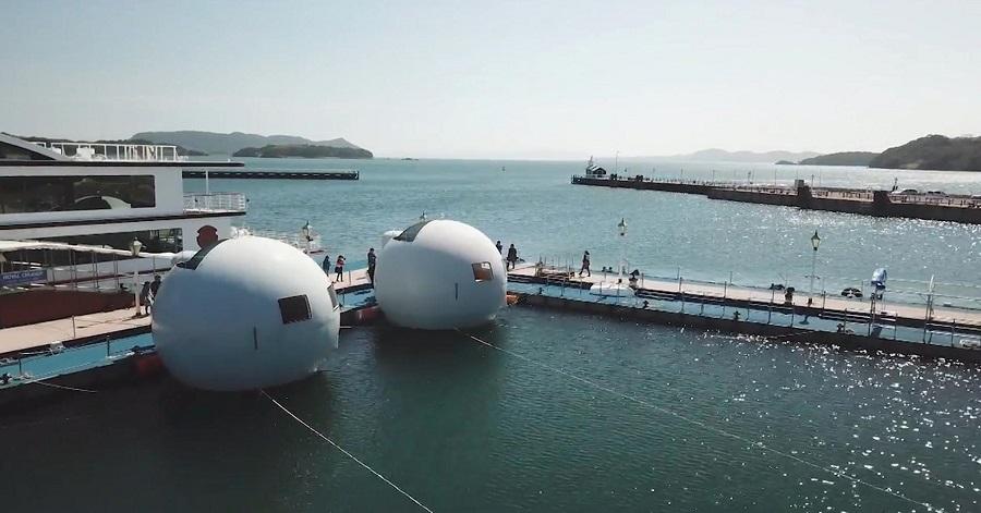 Hotel Mizukami  di Jepang Tawarkan Sensasi Bermalam Sambil Terapung di Atas Laut