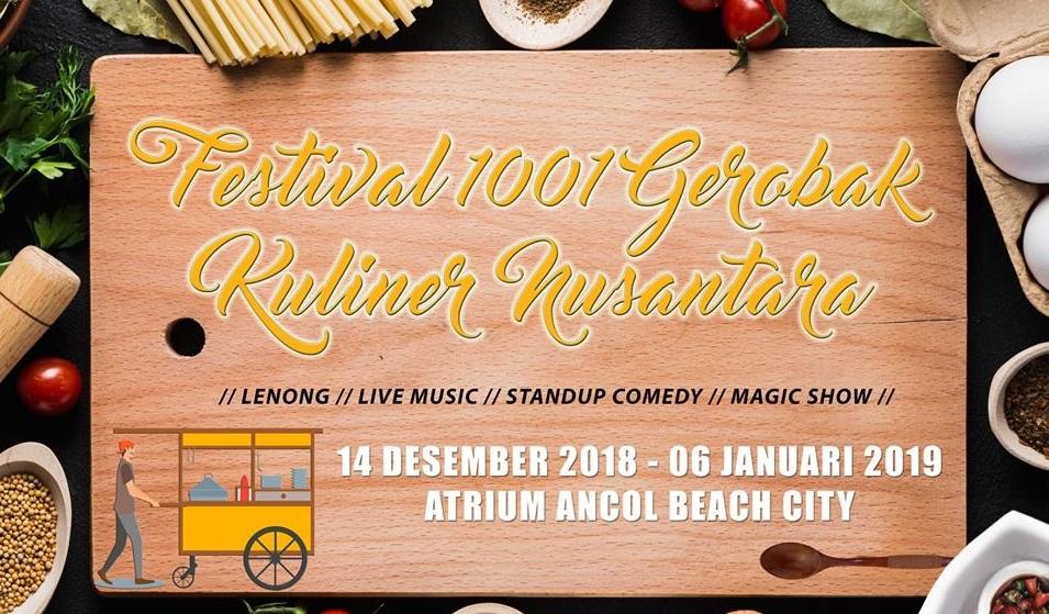 1001 Gerobak Kuliner Nusantara Segera Padati Ancol Beach City