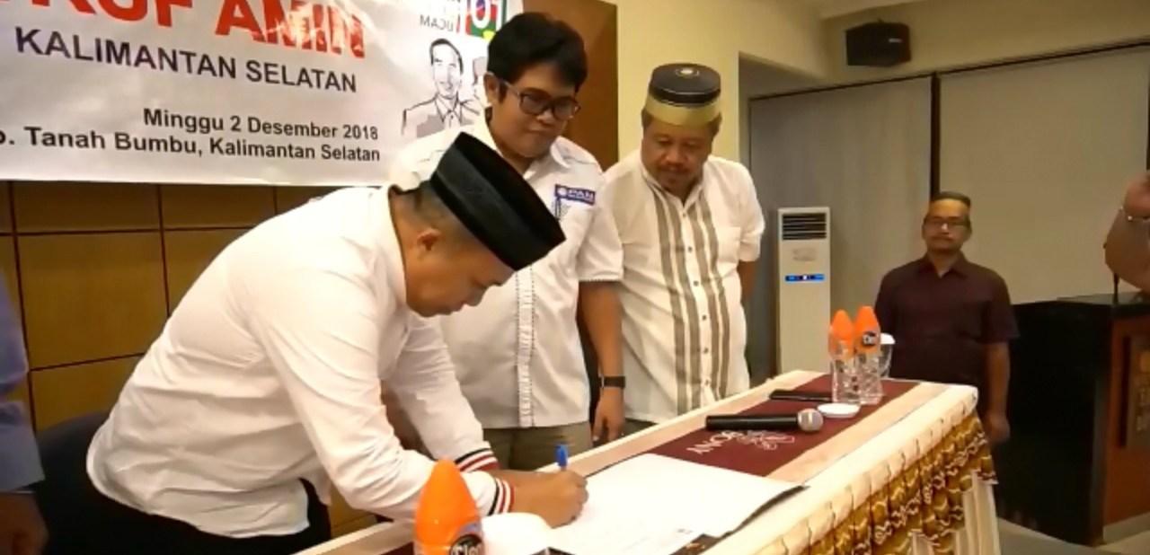 Bukan Prabowo, DPW PAN Kalsel Deklarasikan Dukungan Untuk Jokowi