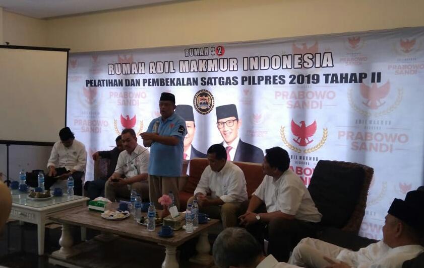 Djoko Santoso Minta Relawan Alihkan Swing Voters dan Pemula ke Prabowo-Sandi