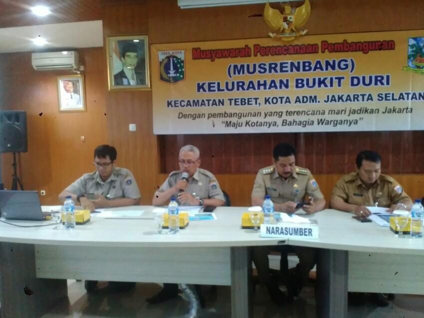 Kelurahan Bukit Duri Gelar Musrenbang 2019, Lurah: Infrastruktur Masih Prioritas