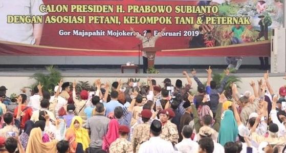 Berdialog dengan Petani se-Jatim, Prabowo Bersumpah Begini!