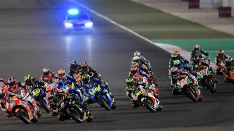 Vinales Incar Podium di MotoGP Qatar 2019