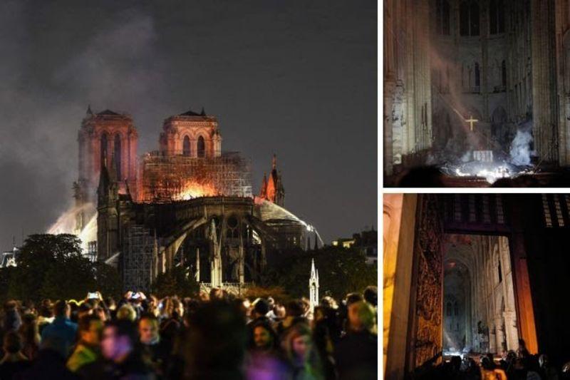Tragedi Terbakarnya Gereja Notre Dame, Artefak Berharga Gereja Berhasil Diselamatkan Petugas Damkar
