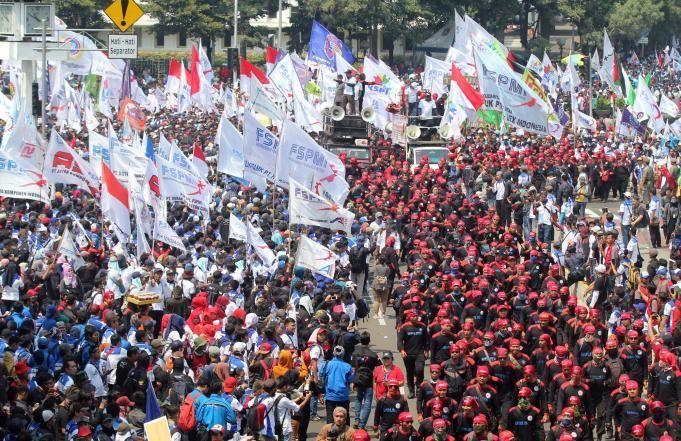 Lagu 2019 Ganti Presiden Berkumandang di Perayaan Hari Buruh Nasional 2019