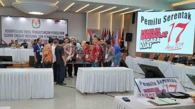 Kondisi Sekitar Gedung KPU Saat Penetapan Hasil Pemilu 2019