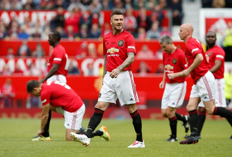 Treble Reunion, Beckham Kembali Cetak Gol di Old Trafford