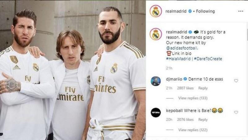 Madrid Pamer Jersey Baru di IG, Foto Gareth Bale Ditiadakan