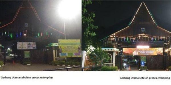 ACE Pasang 1.250 Lampu LED Terangi Kampung Betawi Setu Babakan
