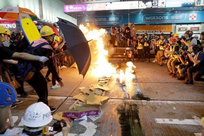 Demonstrasi Kembali Pecah di Hong Kong