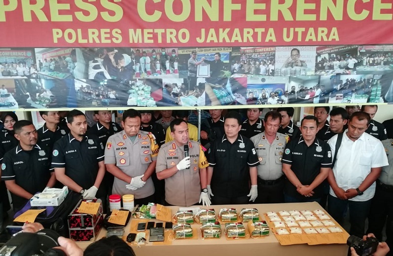 Kepemilikan 10 Kilogram Sabu, Polres Jakarta Utara Ringkus Tersangka Berinisial DA