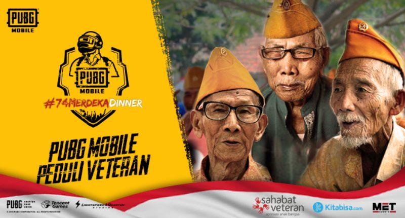 PUBG Mobile Galang Dana untuk Veteran Indonesia Melalui  Kegiatan PUBG Mobile 74 Merdeka Dinner