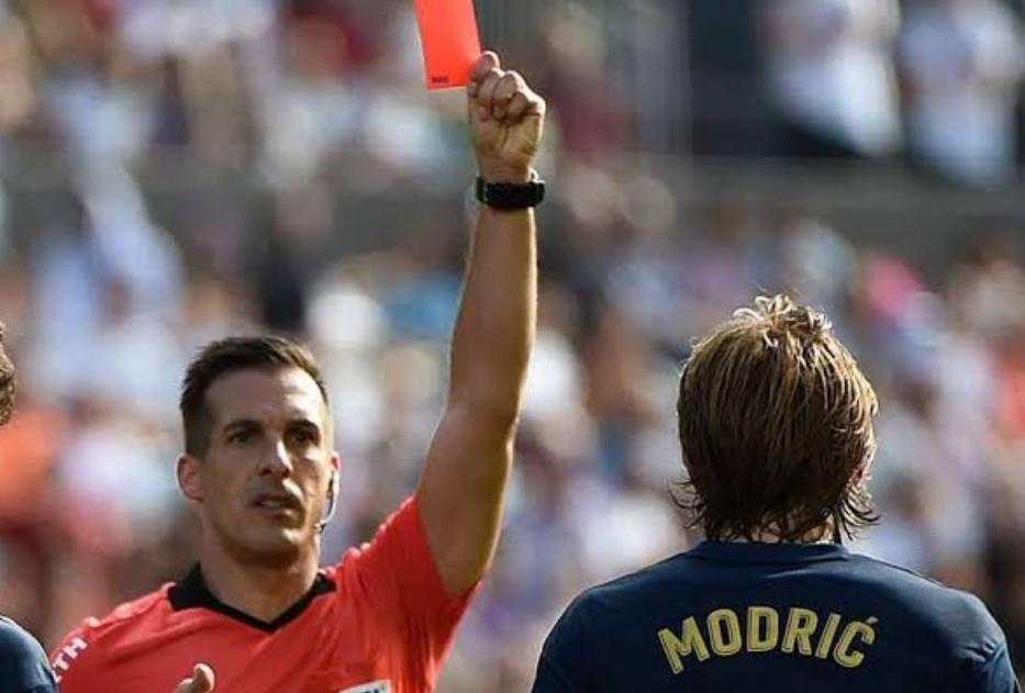 Kartu Merah Modric Warnai Kemenangan 3-1 Madrid atas Celta Vigo