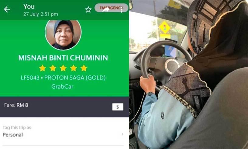 Suami Terkena Kanker Usus dan Anak Cacat Mental, Wanita Berusia 60 Tahun Rela Jadi Driver Taxi Online