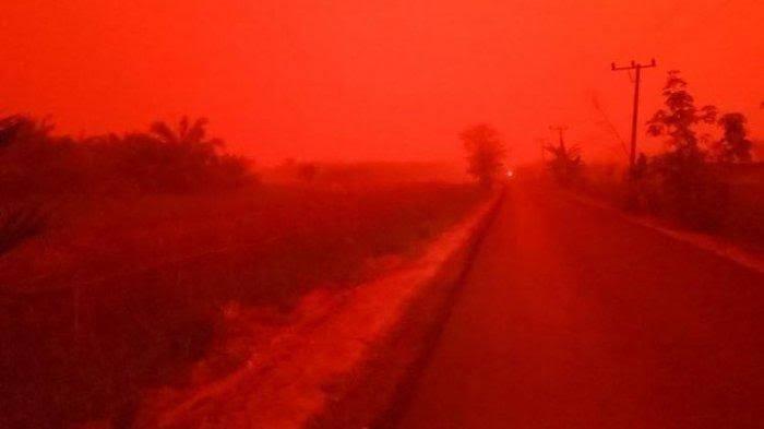 BMKG Jelaskan Fenomena Langit Merah di Muaro Jambi