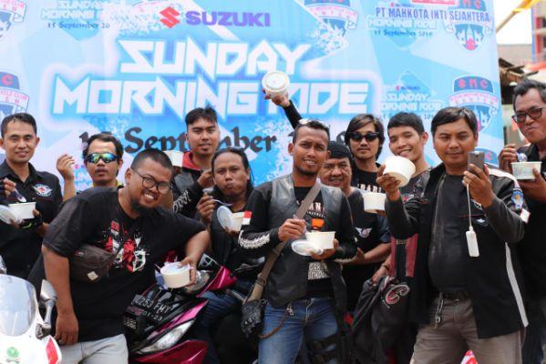 Sunmori Bikers Suzuki Menyusuri Pantai Ujung Barat Pulau Jawa