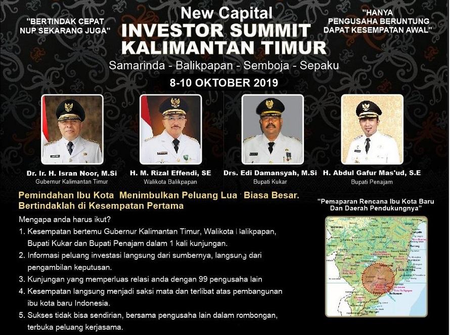 Melirik Deret Lahan Potensial di Ibukota Baru 'Investor Summit Kalimantan Timur'