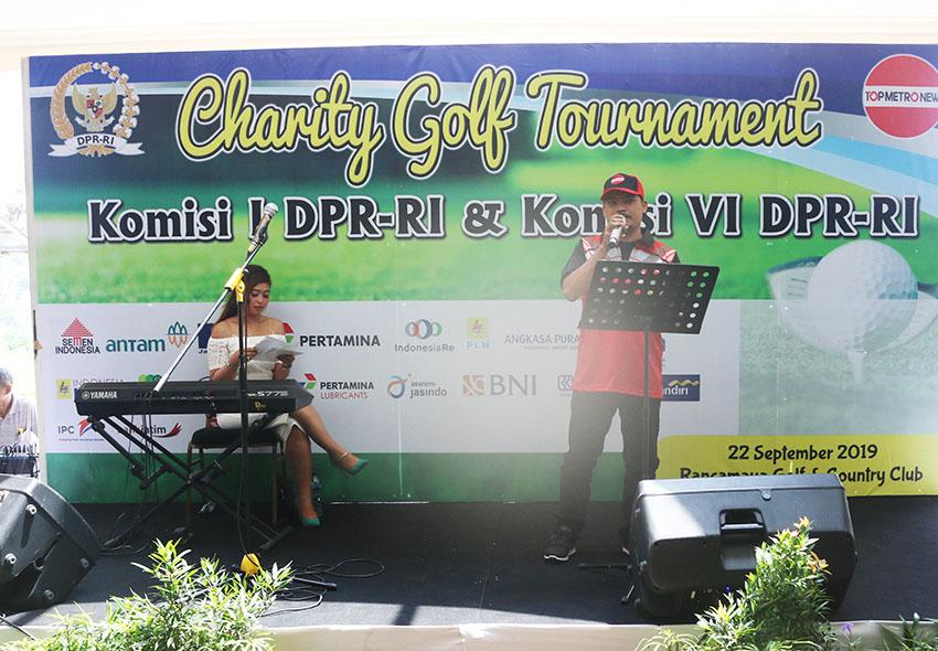 Jelang Purna Bakti, Komisi VI dan I DPR RI Sukses Gelar Turnamen Golf