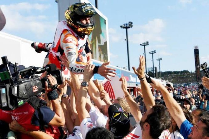 Juarai MotoGP Thailand 2019, Marquez Sukses Cetak Hattrick Gelar Juara Dunia