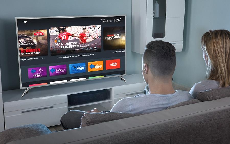 Beli POLYTRON Smart TV Gratis Akses Siaran Liga Inggrid dan EURO 2020