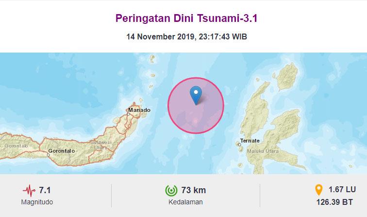 Gempa M 7,1 Maluku Utara, BMKG Belum Cabut Peringatan Dini Tsunami