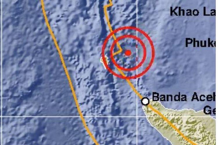 Terbaru, Gempa Bumi Magnitudo 5,1 Guncang Sabang Aceh