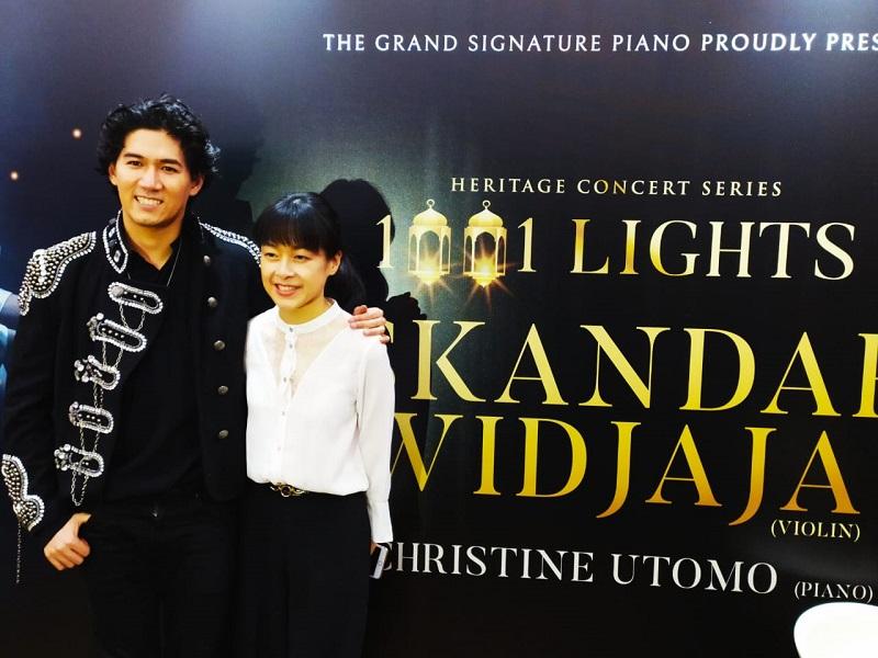 Kolaborasi Apik Iskandar Wijaya dan Christine Utomo Pukau Pengunjung Heritage Concert Series 1001 Lights