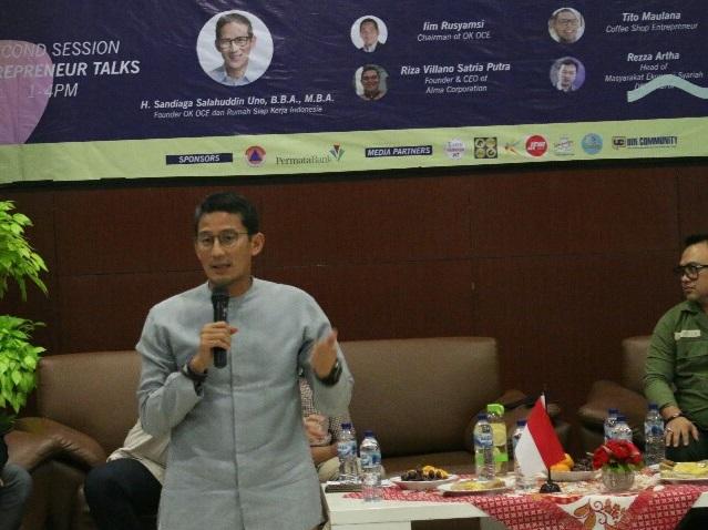 Seminar Enterpreneur FISIP UIN, Sandiaga Ungkap 3 Hal Penting Jadi Pengusaha Sukses