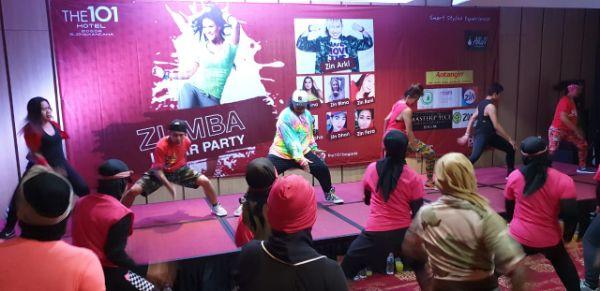 Mendapat Dukungan Antangin, THE 101 Hotel Bogor Gelar Zumba Lunar Party