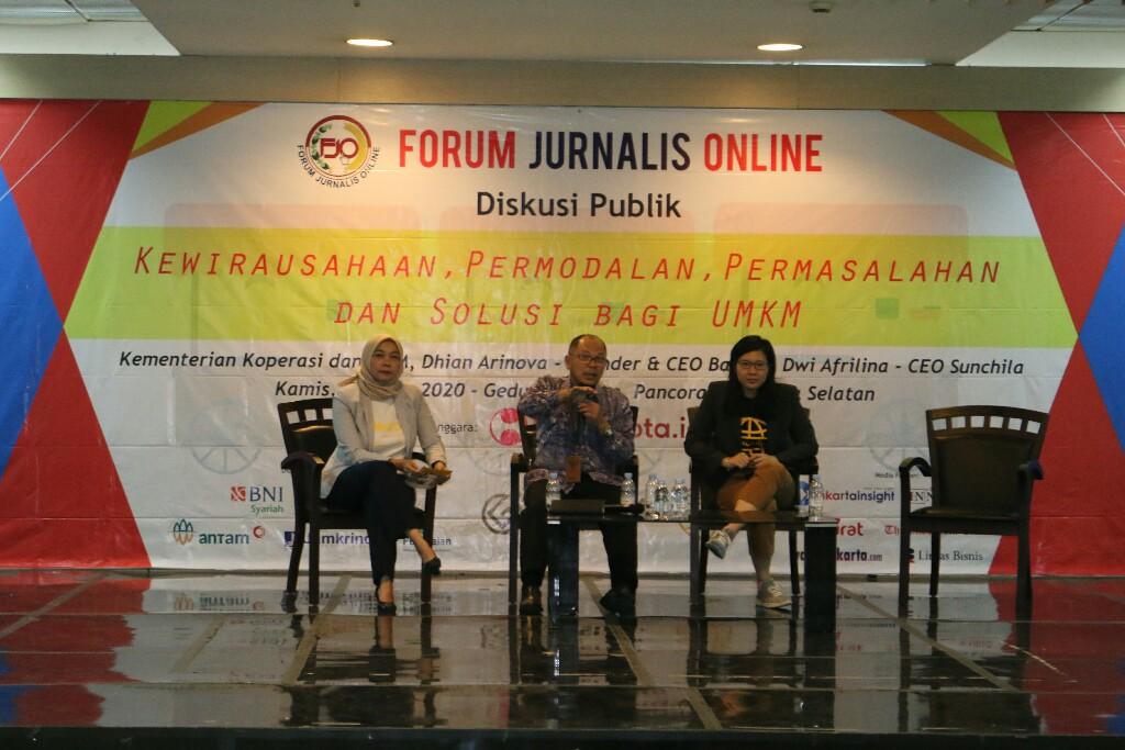 Diskusi Publik FJO, Inovasi dan Kreativitas Wirausahawan Jadi Sorotan Kemenkop UKM