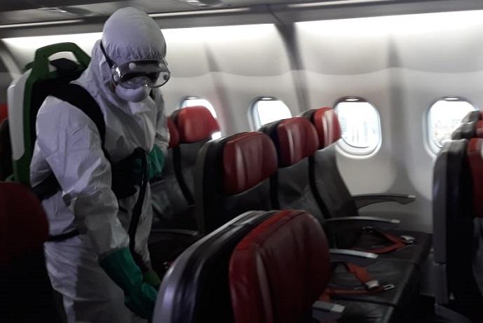 Antisipasi Penyebaran Corona, Lion Air Lakukan Sterilisasi Pesawat