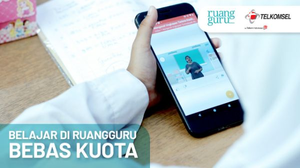Kerja Sama Ruangguru dan Telkomsel Tawarkan Belajar Bebas Kuota